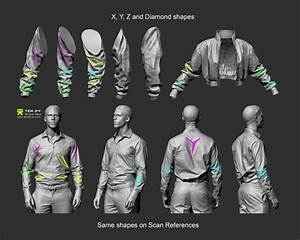 Manual Sculpting Of Anatomy And Clothing Details