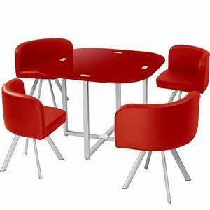 Chaise Scandinave Rouge : table scandinave et chaises vintage 90 rouge pas cher scandinave deco ~ Preciouscoupons.com Idées de Décoration