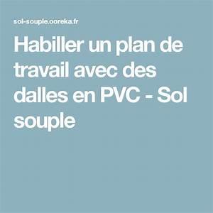 Comment Poser Un Plan De Travail : habiller un plan de travail avec des dalles en pvc sol ~ Dailycaller-alerts.com Idées de Décoration