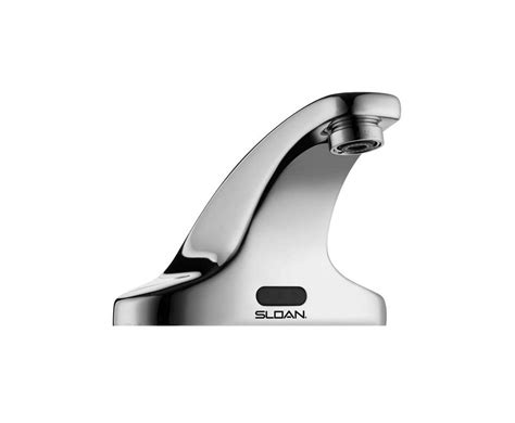 electronic kitchen faucet faucet com 3362119 in chrome plate by sloan