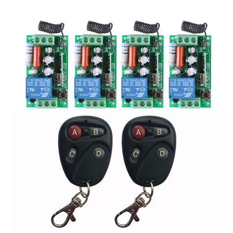 wireless light switch transmitter and receiver ac 220 v 1ch 10a relay rf wireless remote control switch