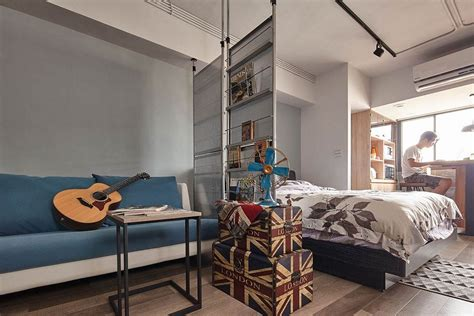 A Super Stylish Small Space Apartment : Tiny Industrial Loft Style Apartment In Taipei City