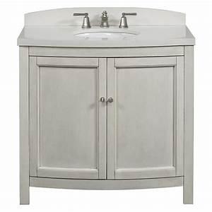 Allen Roth Moravia Antique White Undermount Bathroom