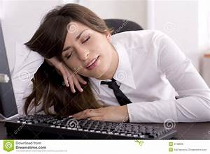 Tired At Work Royalty Free Stock Image - Image: 4148626
