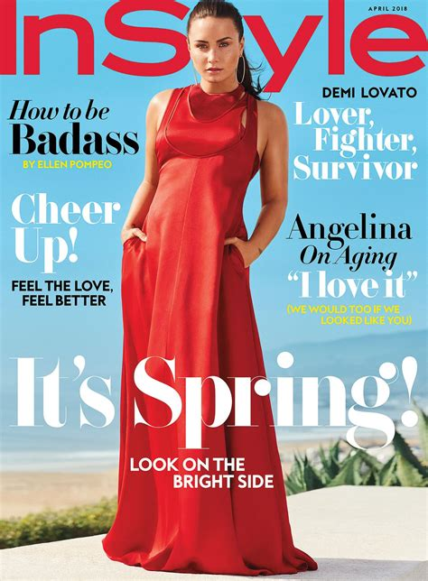 demi lovato photoshoot  instyle magazine april