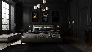 Black, Bedroom, On, Behance