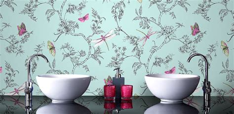 bathroom wallpaper ideas uk 39 s eclectic bathroom customer bathrooms