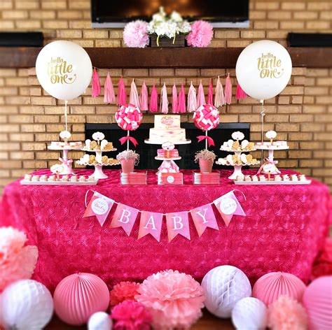pink dessert table baby shower charming sweet tickled pink baby shower hostess with