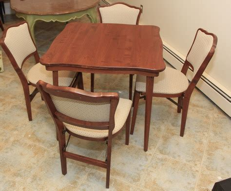 stakmore bridge table 4 chairs folding table chairs