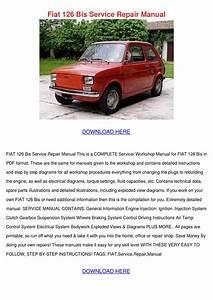 Fiat 126 Bis Service Repair Manual By Elissadelgado