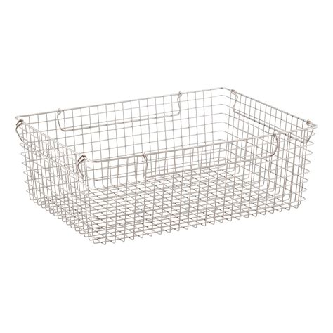 Stackable Wire Storage Baskets With Handles  The