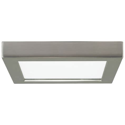 7 inch square nickel low profile led flushmount ceiling