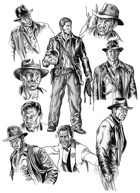 Free Coloring Pages Of Indiana Jones
