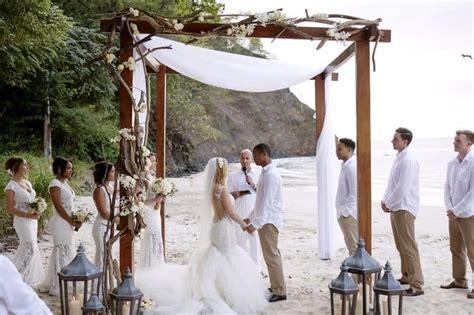 white beach wedding  costa rica destination