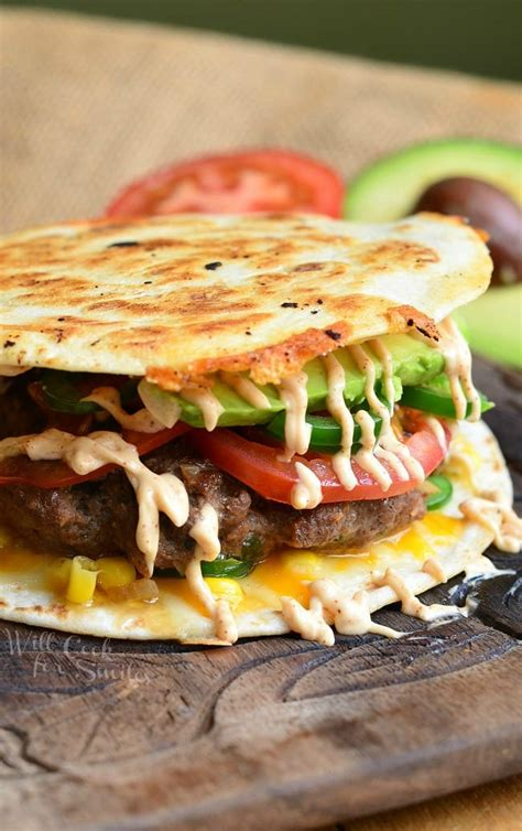 quesadilla burger  cook  smiles