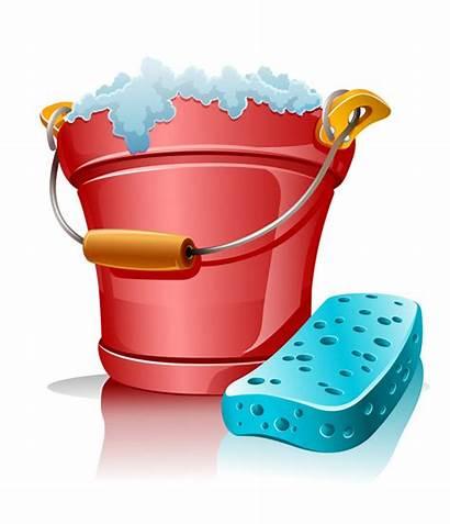 Cartoon Clean Vector Utensils Cleaning Eps