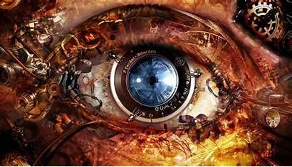 Machine Wallpapers Backgrounds Desktop Eyes Clock Tattoo