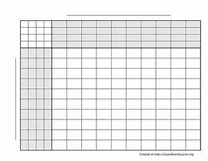 football squares free printable football squares template With super bowl pool templates