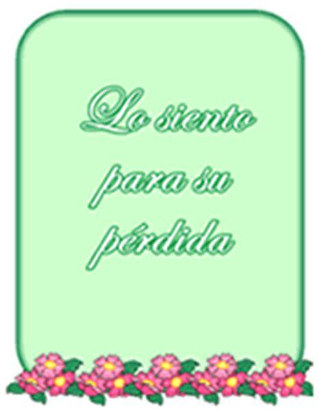 spanish sympathy greeting cards lo siento  su perdida