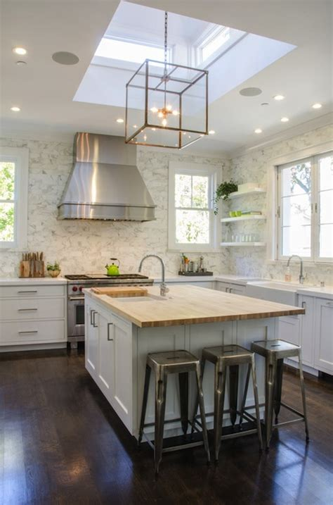 kitchen skylight transitional kitchen evars  anderson