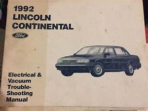 1992 Lincoln Continental Ford Wiring Diagram Evtm Shop