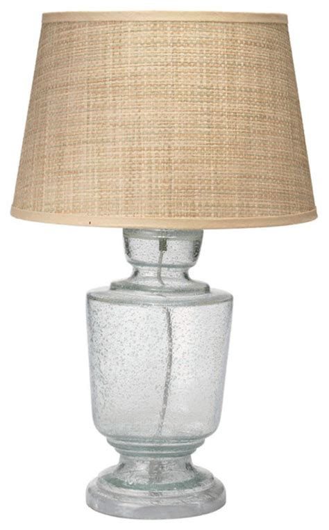 Jamie Young Lafitte Clear Seeded Glass Small Table Lamp
