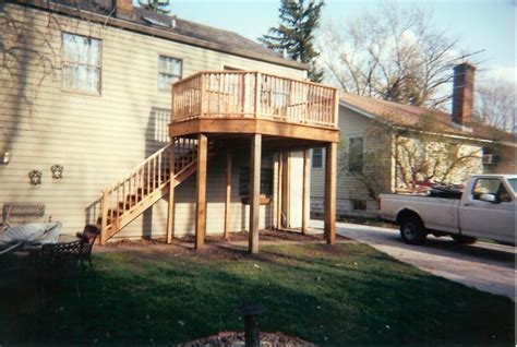 two story deck plans 18 photo house plans 81939