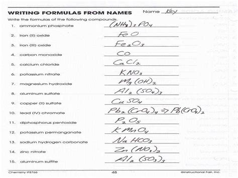 chemical formula worksheet homeschooldressage com