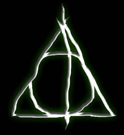 Potter Harry Hallows Symbol Deathly Background Wand