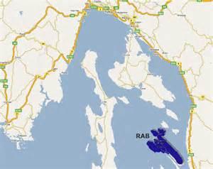Rab Island Croatia Map