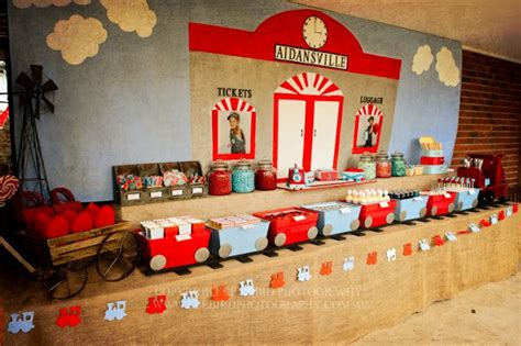 Kara's Party Ideas Vintage Train Station Birthday Party
