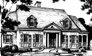 Maloney Greek Revival Home Plan 060d-0106