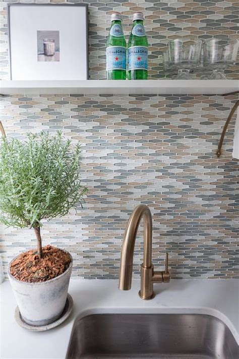 Gold And Gray Kitchen Backsplash Tiles Design Ideas