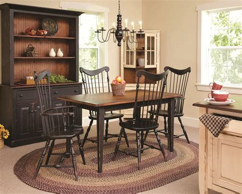 Country Dining Room Sets by Primitive Dining Table Chairs Set Farmhouse Furniture