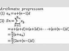 Arithmetic progression Calculator High accuracy calculation