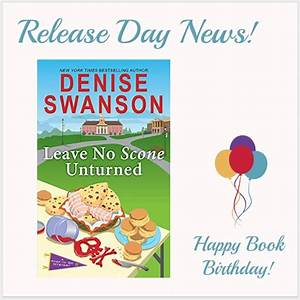 Mystery Lovers' Kitchen: RELEASE DAY NEWS: Leave No Scone ...