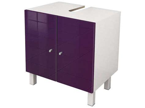 meuble sous lavabo soramena coloris aubergine vente de