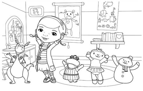 Kleurplaat Doc Mcstuffins by Doc Mcstuffins Coloring Pages To And Print For Free