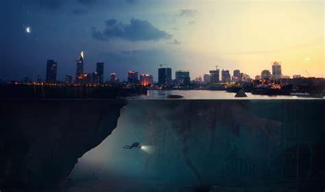 wallpaper explore deep  underwater urban hd