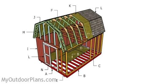 12x16 gambrel roof shed plans 12x16 gambrel shed roof plans myoutdoorplans free