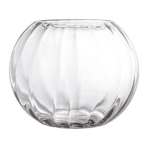 Glass Vase by Buy Bloomingville Ridged Glass Vase Clear Amara