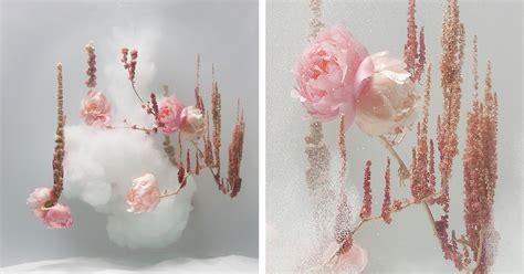 flowers dance underwater  ballerinas