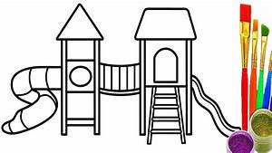 Drawing Playground Kids How to Draw and Coloring Pages for ...
