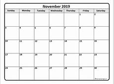 November 2019 calendar 51+ calendar templates of 2019