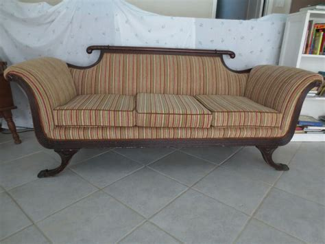 Duncan Phyfe Settee by Empire Settee Sofa Federal Claw Foot Duncan Phyfe