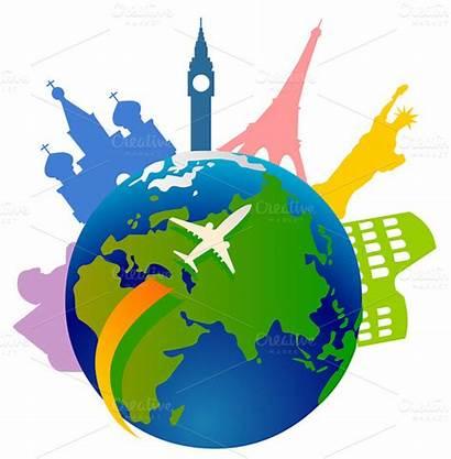 Tourism Around Market Creative Traveling