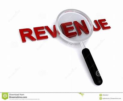 Revenue Word Income Magnified Statements Background Recognition