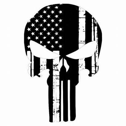 Punisher Flag American Skull Stickers Sticker Decals
