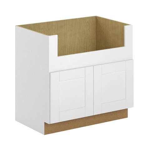 farm sink base cabinet hton bay princeton shaker assembled 36x34 5x24 in 7134