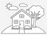 Colouring Coloring Simple Clip Drawing Line Sketch Hill Houses Printable Tree Drawings Sheets Timykids Vertical Getdrawings Pngfind Sketches Cliparts Drawn sketch template